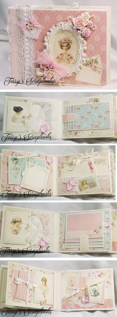 Terry's+Scrapbooks:+Pion+Designs+Paris+Flea+Market+Scrapbook+Mini+Albu...