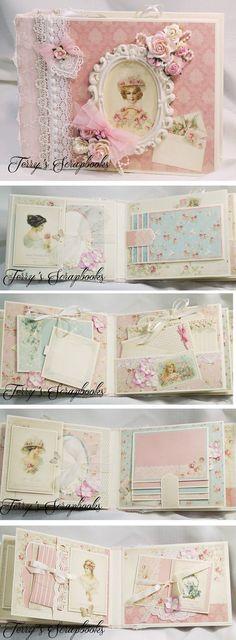 Terry's Scrapbooks: Pion Designs Paris Flea Market Scrapbook Mini Album