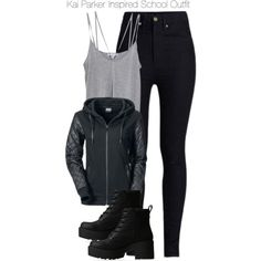 Kai Parker Inspired School Outfit by staystronng on Polyvore featuring Cami NYC, Rodarte, Lipstik, school, tvd and KaiParker