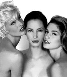 Linda+Christy+Cindy  90's Supermodels at their zenith