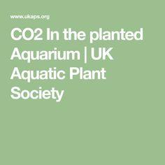 CO2 In the planted Aquarium   UK Aquatic Plant Society