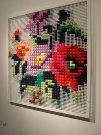 Large scale cross stitch