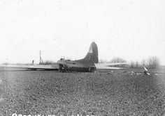 """Boeing B-17G-5-BO Flying Fortress Bomber """"Miss Billie, Jr"""" 42-31166 of the 384th Bomb Group 545th BS crashed in England March 1944"""