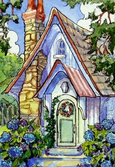 A Hydrangea Welcome Storybook Cottage Series |  Alida Akers