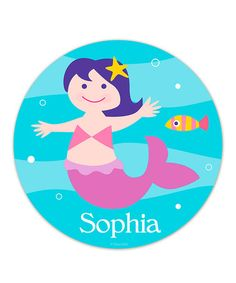 Take a look at this Mermaid Personalized Fabric WallDotz Decal by Olive Kids on #zulily today!