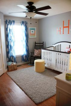 These curtains are the perfect touch for this little boy's nursery.