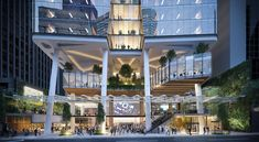 New 40 Storey Commercial Tower Proposed for 360 Queen Street Arch Building, Mix Use Building, Building Concept, Mall Facade, Retail Facade, Futuristic Architecture, Facade Architecture, Classical Architecture, Woodland House