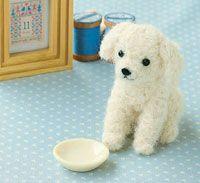 Needle Felted Dog / Toy Poodle  --  Hamanaka Co., Ltd.