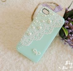 Lace  iphone 4 case  iphone 4s  protective cover 4 colors available. $18.00, via Etsy.