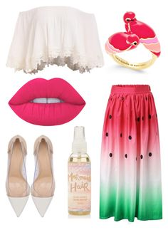 """""""Watermelon Fun """" by bhappygirlz ❤ liked on Polyvore featuring Kate Spade, Gianvito Rossi and Lime Crime"""
