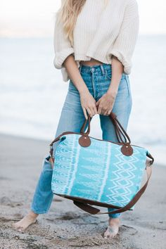 Bring our overnight bags to a day at the beach or a weekend getaway!
