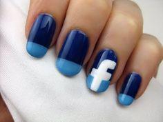 Facebook Nail Art