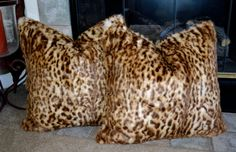 Faux Fur Pillows Animal Print Faux Fur by CindyHeitkampDesigns