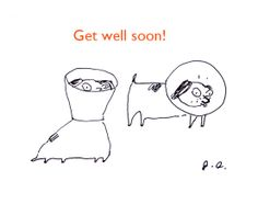 Get Well Soon Dog card by jamieshelman on Etsy, $4.95
