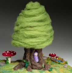 Opulent Fibers Store - Needle Felted Fantasy Tree, $65.00 (http://www.opulentfibers.com/needle-felted-fantasy-tree/)