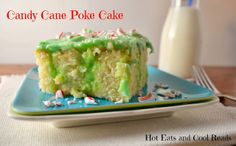Candy Cane Poke Cake from Hot Eats and Cool Reads