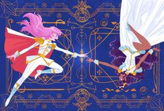 participated for Revolutionary Girl Utena Tribute Show at Q Pop Gallery! Utena is one of my favorite anime and I am really glad to be part of the show:D There are gorgeous artworks for this tribute show! If you are in LA area please go check them. Fantasy Characters, Anime Characters, Manga Art, Anime Art, Revolutionary Girl Utena, Steven Universe Gem, Yuri Anime, Girls Series, Animated Cartoons
