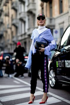 Lo street style dalla Milano Fashion Week autunno inverno 2017-2018