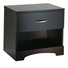 South Shore Back Bay Nightstand in Dark Chocolate by South Shore. $62.70. Easily accessible open storage space. Chocolate finish. Elegant metal handle with a brushed zinc finish. Manufactured from laminated particle board. Our products are made of EPP certified panels (Environmentally Preferred Product).. The convenient and practical Back Bay Nightstand is an ideal choice for any modern living space, including a loft, an apartment or a home. Contemporary and function...