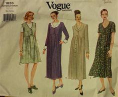1990s Maternity Dress Vogue Pattern 1833  Sizes by patterntreasury, $14.95