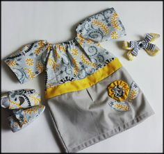 Infant/Toddler Peasant dress Outfit, Birthday, Easter