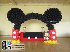 Resultado de imagen para decoracion de la casa de mickey mouse en globos