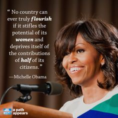 On Wednesday, Michelle Obama spoke to leaders at the Mandela Washington Fellowship for Young African Leaders and urged changing traditional beliefs on the worth of educating women.