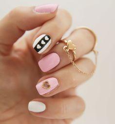 Pink manicure: 30 ideas of nail art | Nail art - nails - diy