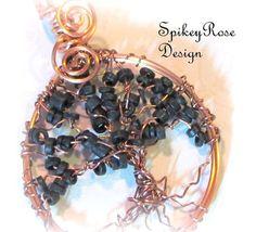 Tree of Life Wirework Pendant Copper Wire by GlendasJewelleryOz