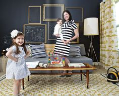 chalkboard wall with frames!