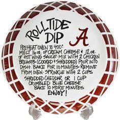 "11"" University of Alabama Ceramic Roll Tide Dip Recipe Bowl | Bama Tailgating"