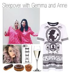 """""""Sleepover with Gemma and Anne"""" by littleharmonythedirection ❤ liked on Polyvore featuring Topshop, Casetify and Riedel"""