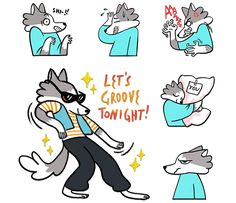 Image result for wolf telegram stickers Telegram Stickers, Wolf, Snoopy, Image, Fictional Characters, Art, Art Background, Kunst, Wolves