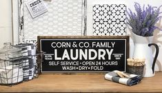 Your place to buy and sell all things handmade Laundry Room Sign Laundry Sign Laundry Room Decor Vintage Laundry Decor, Laundry Room Signs, Laundry Room Storage, Laundry Rooms, Painted Wood Signs, Custom Wood Signs, Fixer Upper Kitchen, Laundry Room Inspiration, Farmhouse Laundry Room