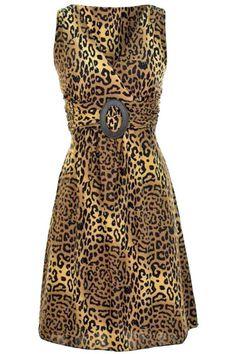 Multicolor Print Hi Waist Sleeveless Dress