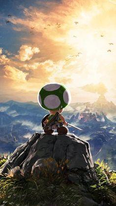 Nintendo Japan has a green Toad mascot named Kinopio-kun. Here he is in official art. : gaming breath of the wild Super Mario Art, Mario And Luigi, Zelda Breath, Breath Of The Wild, Video Game Art, Game Character, Legend Of Zelda, Dragons, Fantasy Art