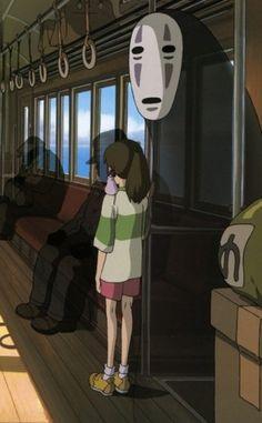 """Scene from Master Hayao Miyazaki's """"Spirited Away""""."""