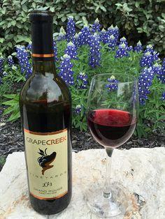 Bluebonnets and Grape Creek Vineyards wine...yes please! #bluebonnetlove #texaswine #grapecreekvineyards
