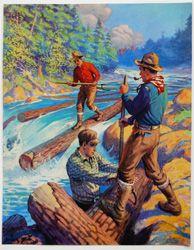 Vintage calendar art: camping, wildlife, etc.