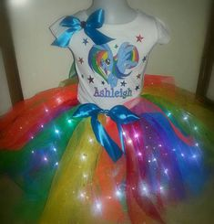 Check out this item in my Etsy shop https://www.etsy.com/au/listing/525471851/rainbow-dash-personalised-led-tutu-set