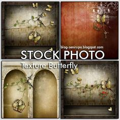 Stock Photo Texture With Butterfly