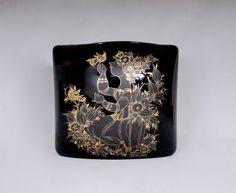 1970s BJORN WIINBLAD Large Porcelain Noir Vase For Rosenthal Studio Linie by vdpshop on Etsy