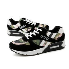 Patchwork Air Mesh Platform Men's Shoes