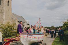 Laid Back Coastal Wedding at Great Waxham Barns in Norfolk with Bright Colour Scheme & Customised Sanyukta Wedding Dress Boat Wedding, Wedding Venues Uk, Bright Color Schemes, Bright Colours, Wedding Venue Inspiration, Wedding Ideas, Festival Wedding, Image Photography, Wedding Nails