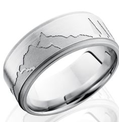 Cobalt Mountain Ring - Mountain Wedding Rings by Titanium-Buzz!
