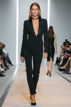 What I wore to yesterday's black tie affair / A look from the Mugler Spring 2015 RTW collection. (Photo: Nowfashion)