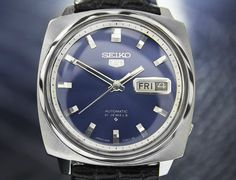 Seiko 5 Day Date Automatic 6119-7120 Blue Dial, c.1970s