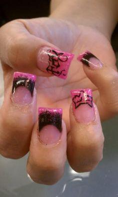 fox fingernails | Fox Racing Logo Nails
