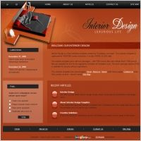 Website Design California Interior Design Template