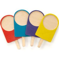 Wooden Popsicle Coasters